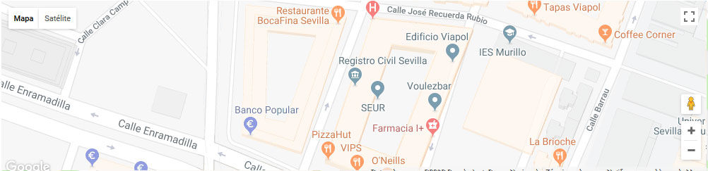 mapa registro civil sevilla